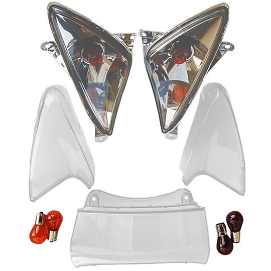 Kit de gemmes flèches + carrés d'arrêt pour lampes Yamaha TMAX + de 2001 à 2007