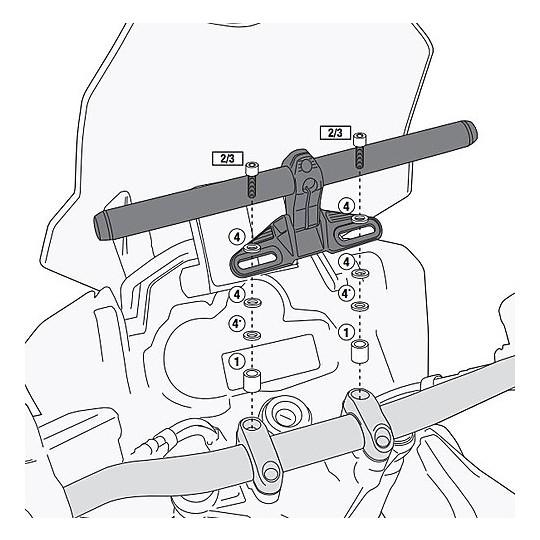 Kit de matériel spécifique 02SKIT pour les supports Givi S900A / S901A ou Kappa Ks900