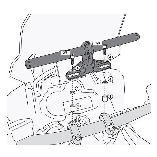 Kit de vis spécifiques 04SKIT pour supports Givi S900A / S901A ou Kappa Ks900