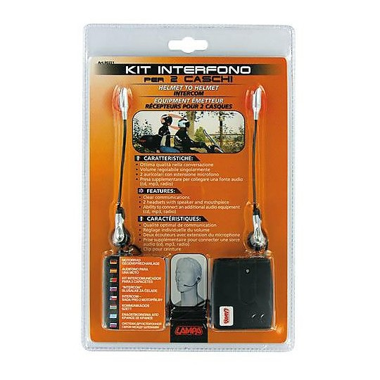 Kit d'interphone Lampa Moto pour casques 2 Talk 2