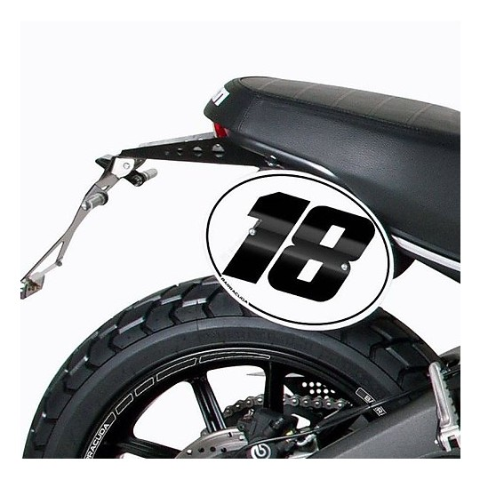 Kit plaque d'immatriculation Barracuda Ducati Scrambler 15-16