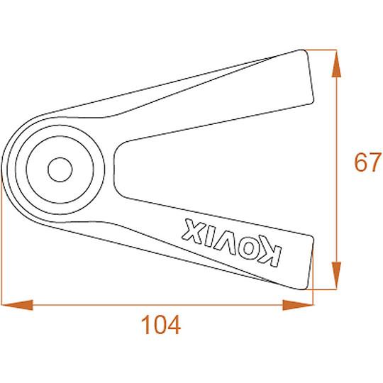 KOVIX KVX Goupille de verrouillage de disque de moto en alliage de zinc 14 mm noir