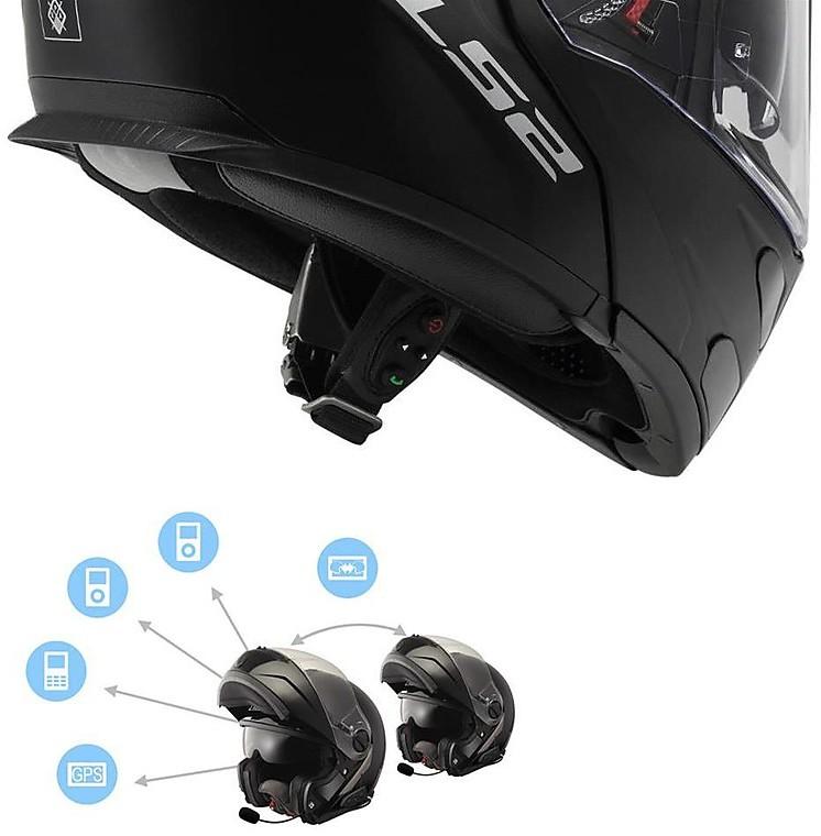 Mx Knee Braces >> Linkin Bluetooth Intercom Motorcycle Ride Pal 2 Ls2 By ...