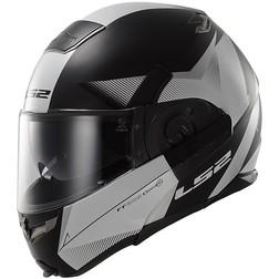 Ls2 393 Modular Motorcycle Helmet Visor Convert Tipper Double Hawk Black Matt White Ls2