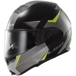 Ls2 393 Modular Motorcycle Helmet Visor Convert Tipper Double Hawk Black-Yellow Fluo Ls2