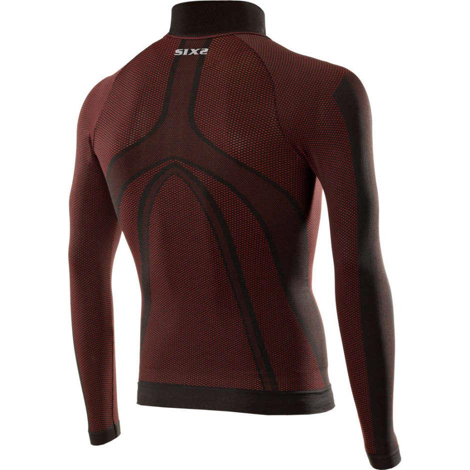 Lupetto Manica Lunga Intimo Sixs TS3 Carbnon Underwear Dark Red