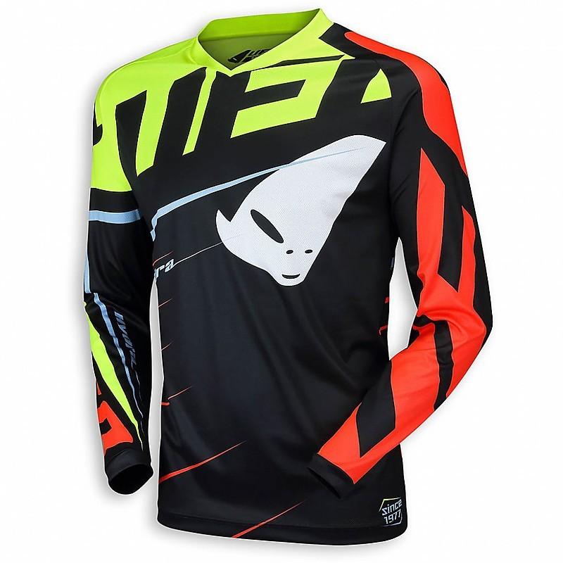 UFO JERSEY rivoluzione Neon Rosso//Nero Motocross MX MOTO CROSS ENDURO MAGLIA