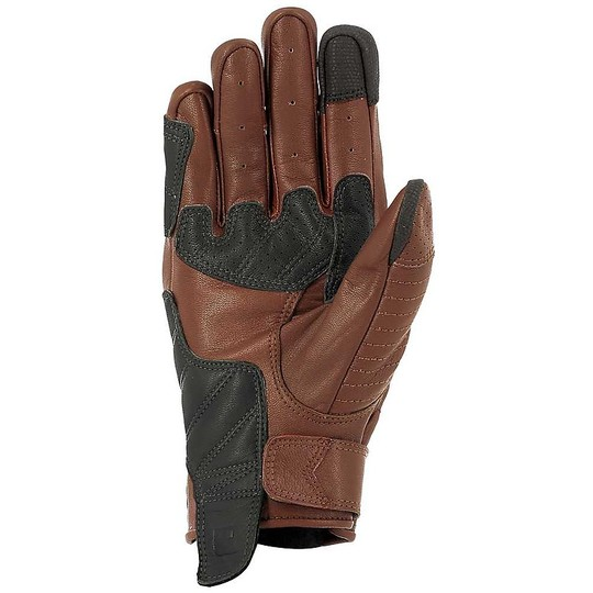 McKeen Brown Custom Perforated Leather Motorcycle Gloves