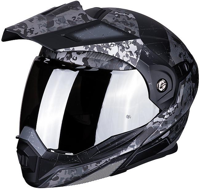 Pearl White L Scorpion Casco Moto ADX-1