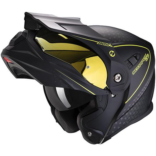 Scorpion Casco Moto EXO-920 SATELLITE LG Black//Neon Yellow