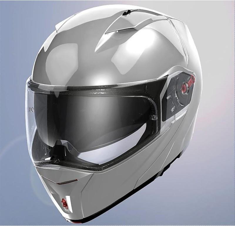 Gloss White Xxs LS2 Casco Moto Ff324 Metro