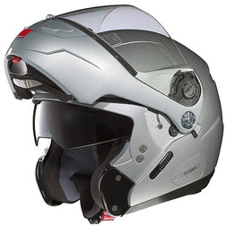 Modular Motorcycle Helmet Nolan N90 Classic NCOM Silver Double Approval Nolan