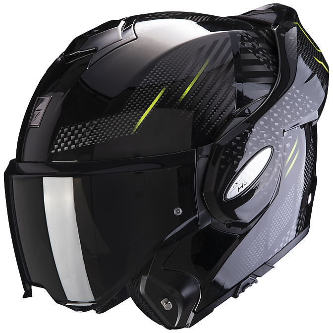 Modular Motorcycle Helmet Scorpion EXO TECH PULSE Glossy ...
