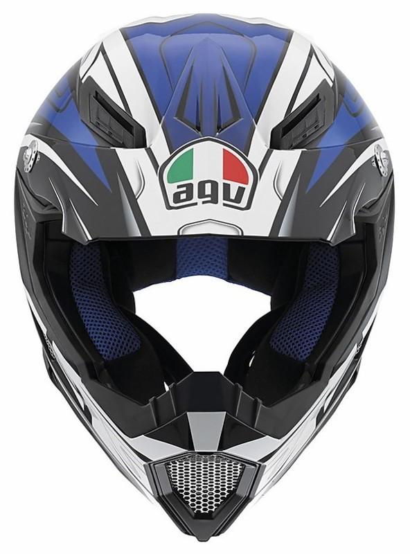 moto cross enduro helmet agv ax 8 evo factory multi black blue. Black Bedroom Furniture Sets. Home Design Ideas