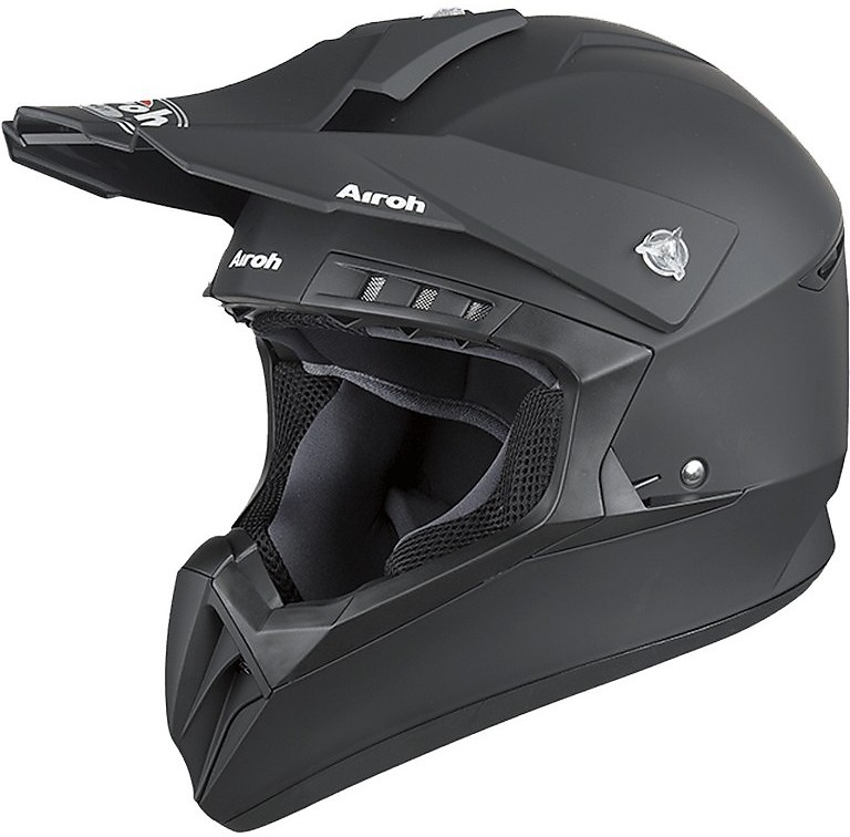 CASCO HELMET CROSS SWITCH SCARY BLACK MATT AIROH SIZE S