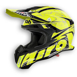 Moto Cross Enduro Helmet Glossy Yellow Splash Terminator 2.1 Airoh