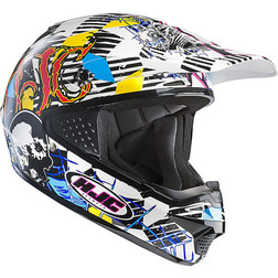 Moto Cross Enduro Helmet HJC CSMX Clown MC3 Hjc