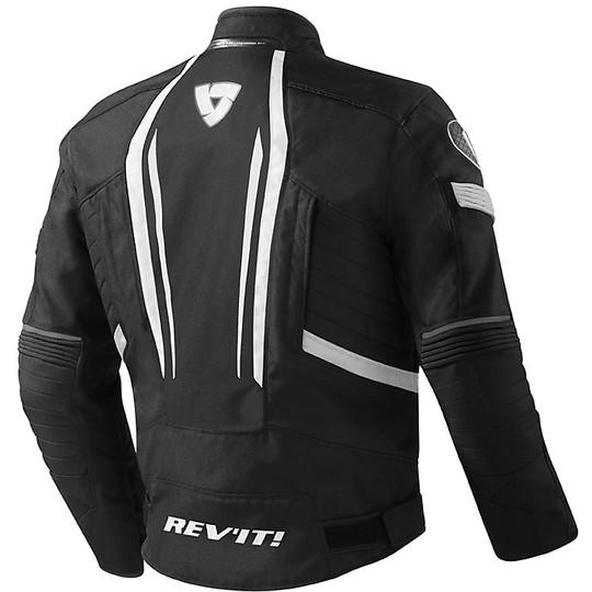 Moto Jacke Rev'it RACEWAY Stoff Schwarz Weiß