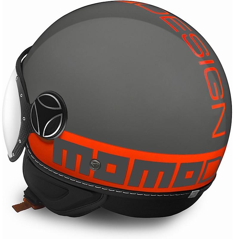 Momo CASCO BLACK MATT//ORANGE FLUO XL