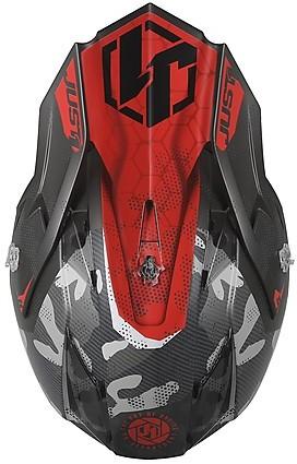 Just1 J32 Pro Swat Camo Motocross Helm Gelb//Grau S