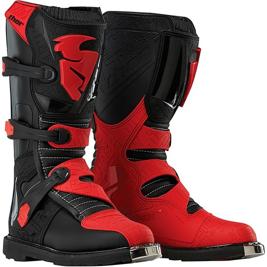 Motorcycle Boots Cross Enduro Baby Thor Blitz 2016 Black / Red