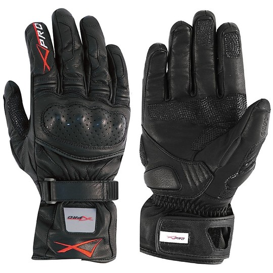 Motorcycle Gloves Racing Heat A-Pro Leather Full Grain Precision Black