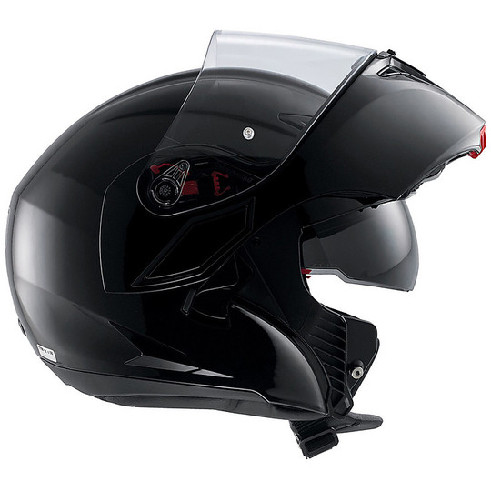 Motorcycle Helmet Agv Modular Compact ST Double approval Mono Matt Black