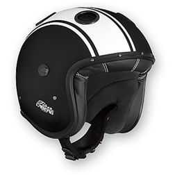 Motorcycle Helmet Caberg Jet Model Doom Legend Black / Matte Black Caberg