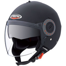 Motorcycle Helmet Caberg Jet Model Riviera V2 + Dual Visor Matte Black Caberg