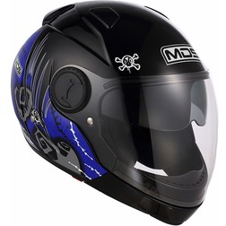 Motorcycle Helmet Chin Mds by Agv Sunjet Detachable Multi Blue Tuft Mds