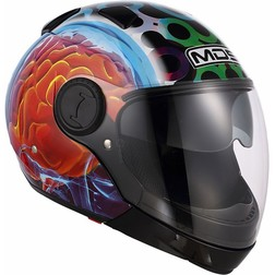 Motorcycle Helmet Chin Mds by Agv Sunjet Detachable Multi Brainstorm Black Mds