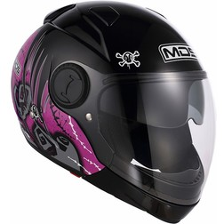 Motorcycle Helmet Chin Mds by Agv Sunjet Detachable Multi Pink Tuft Mds