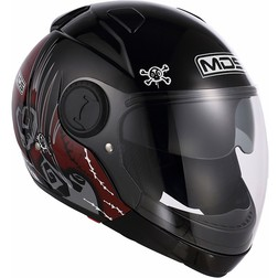 Motorcycle Helmet Chin Mds by Agv Sunjet Detachable Multi Red Tuft Mds