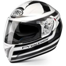 Motorcycle Helmet full Premier Angel FF2 White / Black Double Visor Premier