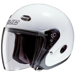 Motorcycle Helmet Hjc jet CL33 White With Visor Long Hjc