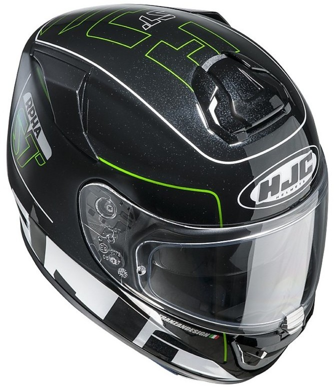 motorcycle helmet integral hjc rpha st double visor. Black Bedroom Furniture Sets. Home Design Ideas