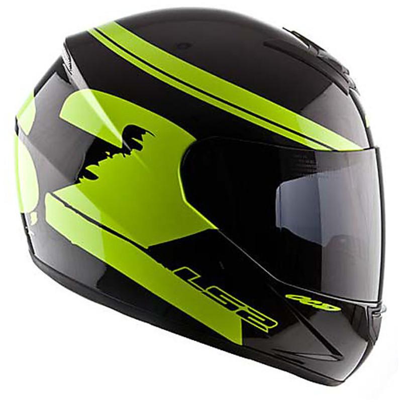 motorcycle helmet integral ls2 ff351 black fluo yellow. Black Bedroom Furniture Sets. Home Design Ideas