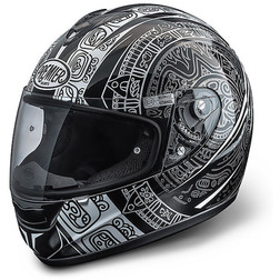 Motorcycle Helmet Integral Model Monza Premeir Fiber Coloring MA6 Black-Grey Premier