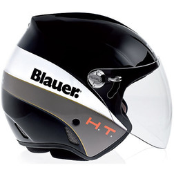 Motorcycle Helmet Jet Blauer Boston Fiber With Long Black Visor Blauer