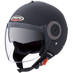 Motorcycle helmet jet caberg model riviera v2 + double visor matte black Caberg