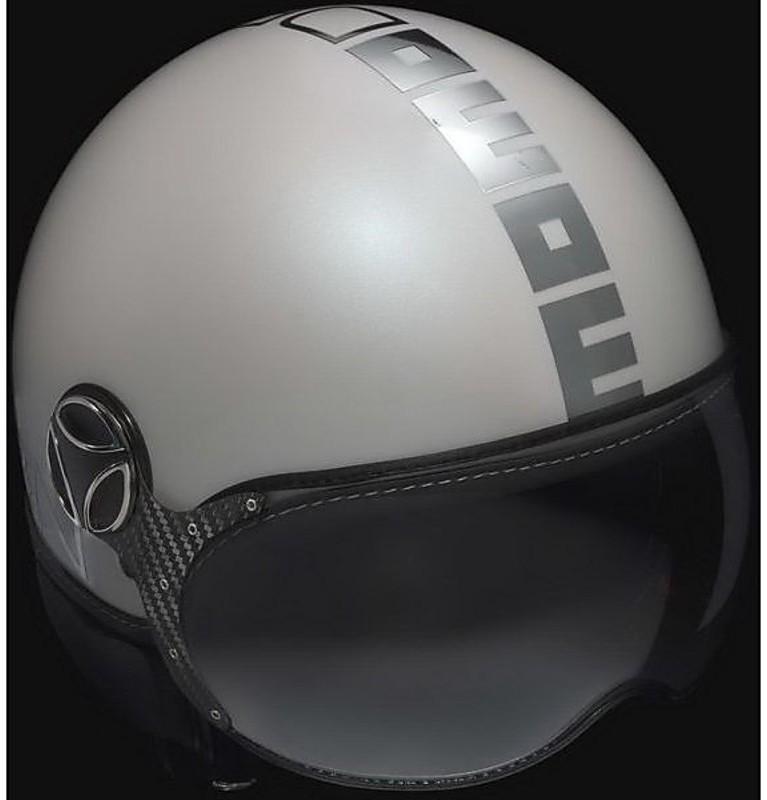 Motorcycle Helmet Jet Fighter Model Momo Design White