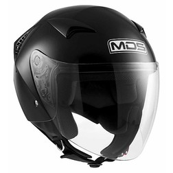 Motorcycle Helmet Jet Mds G240 Mono Gloss Black Mds