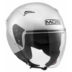 Motorcycle Helmet Jet Mds G240 Mono Silver Mds