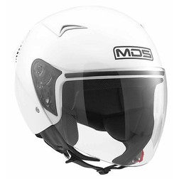 Motorcycle Helmet Jet Mds G240 Mono White Mds