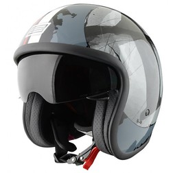 Motorcycle Helmet Jet Vintage Sprint Source Number 1 With visor Interior Origine