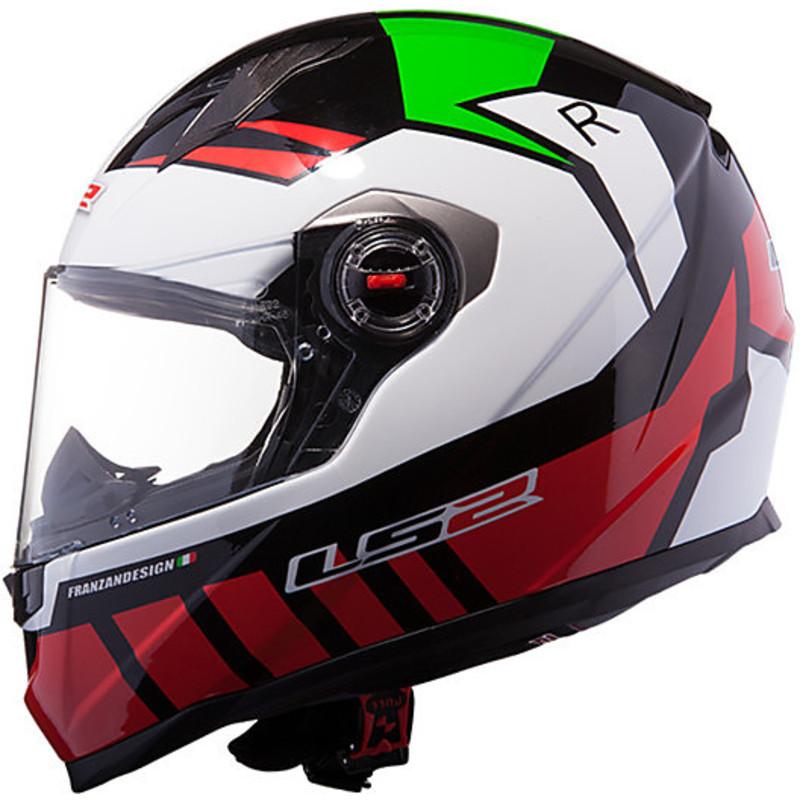 motorcycle helmet ls2 ff322 full voltage verdedoppia visor. Black Bedroom Furniture Sets. Home Design Ideas