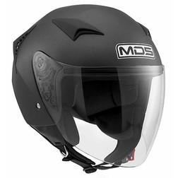 Motorcycle Helmet Matt Black Mono G240 Jet Mds Mds