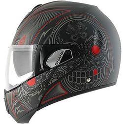 Motorcycle helmet Modular be opened Shark EVOLINE 3 MEZCAL Black Red matte Shark