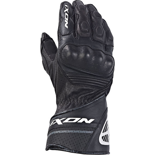 Motorcycle Racing Gloves Ixon RS Rallye HP Leather Black