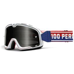 Occhiali Moto Cross Enduro 100% Barstow Classic BiancoLente Mirror Più lente Chiara 100%